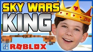 From Noob to King in Roblox Skywars!