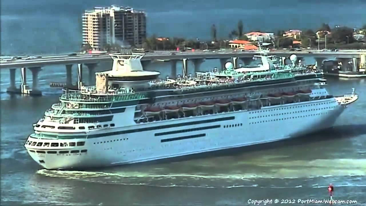 Majesty Of The Seas Departs Port Of Miami 6 18 2012