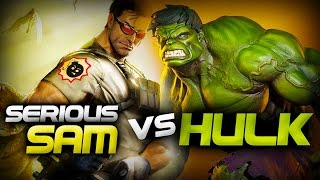 Serious Sam Vs The Hulk - Epic Battle - Left 4 dead 2 Gameplay (Left 4 dead 2 Custom Skin mods)