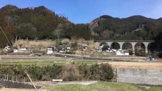 18年ぶり 回送SLがJR九州日田彦山線金野橋を渡る 20170310
