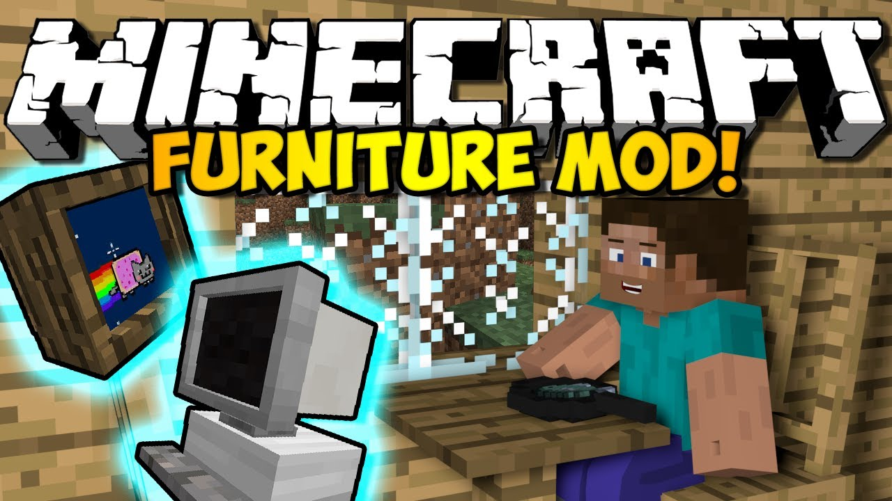 Minecraft Furniture Mod: COUCHES, TVs, COMPUTERS & MORE! (HD)