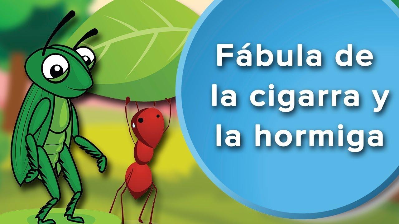Fábula De La Cigarra Y La Hormiga Para Niños Fábula Con Valores