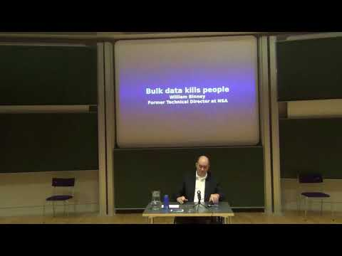 William Binney & Arjen Kamphuis - The Dangers of Success. Cambridge University. 12/10/2017.