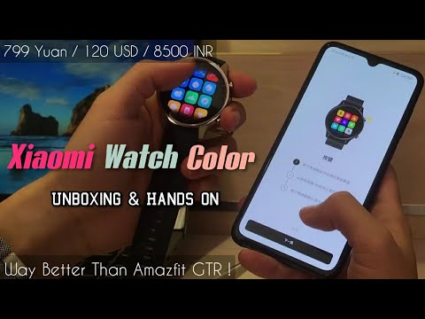 Xiaomi Watch Color - Unboxing & Hands On - Mi Watch Color Smartwatch