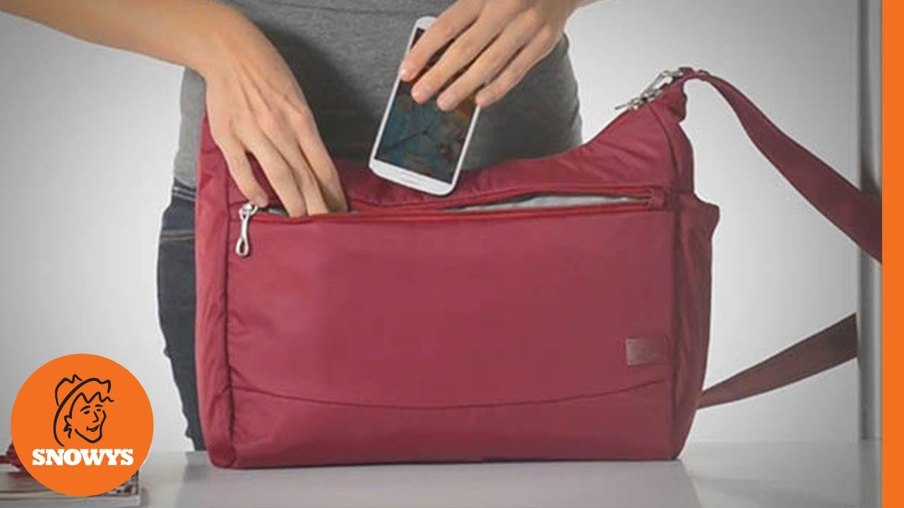 8296b5c97f20 Pacsafe Citysafe CS200 Travel Handbag - YouTube