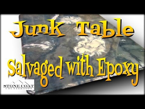 Junk Table Salvaged with Epoxy