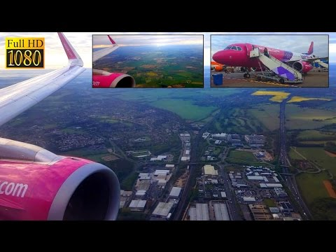 ✈️ WIZZAIR Full Flight | Vilnius to LONDON Luton Airport - Airbus A320 *Full Flight*