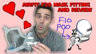 AirFit F20 ResMed Full Face CPAP Mask Fitting and Review. Best Full Face Mask?