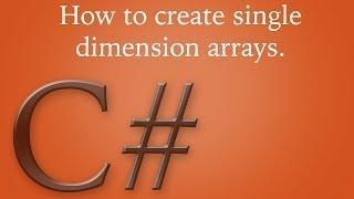 كيفية إنشاء واحد البعد المصفوفات في c# ؟