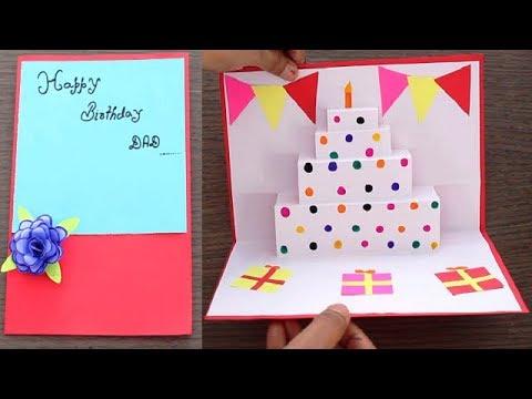 DIY - Cake pop up card for birthday | Easy 3D cards || DIY- Birthday Day Card idea..
