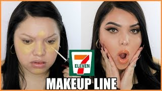 FULL FACE USING 7 ELEVEN MAKEUP!