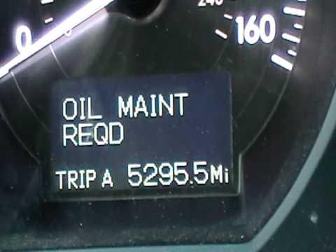 2007 lexus gs350 oil reset