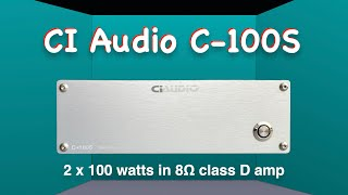 CI Audio C-100S class D power …