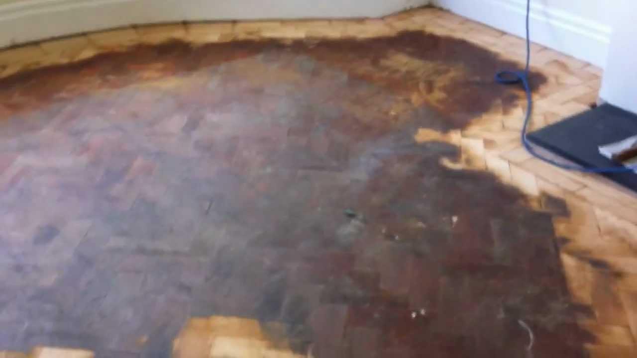Floor Sanding Wirral, Douglas Fir Parquet Flooring Restored In West Kirby  By Woodfloor Renovations