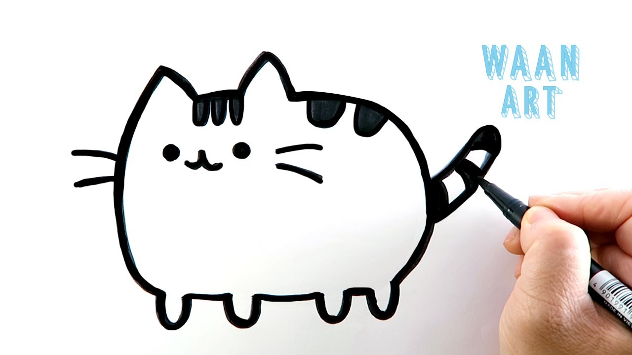 Drawing cartoon | Pusheen Fat Cat วาดรูปแมวอ้วน