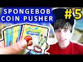 Spongebob Coin Pusher #5 - TONS of Card Wins | Coin Pusher
