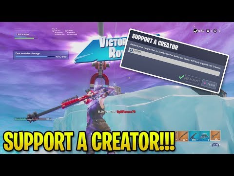 I HAVE A SUPPORT A CREATOR CODE!!! | Fortnite: Battle Royale