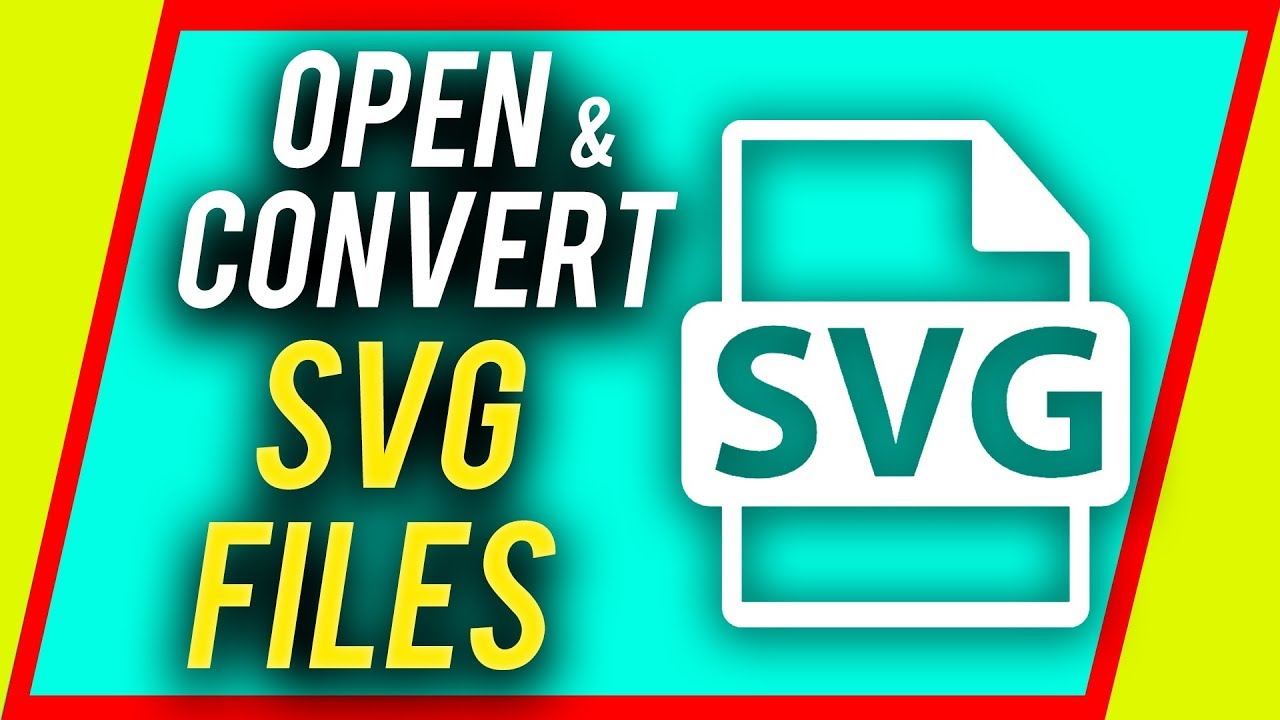 How to open and convert a SVG file