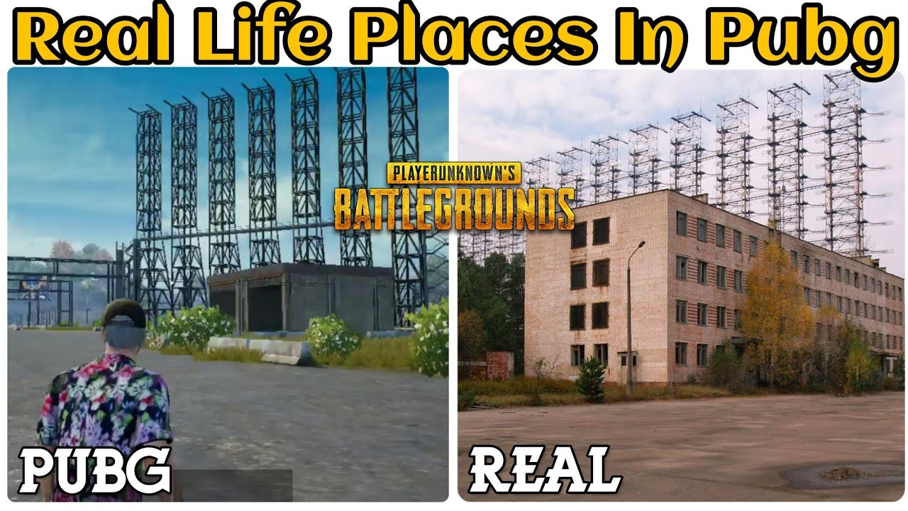 Real Life Places In Pubg  Pubg Map In Real Life Erangel -5716