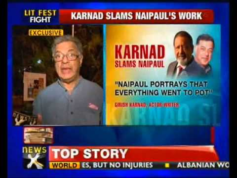 Karnad slams Naipaul for his views on Muslims - NewsX