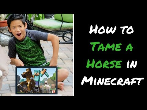 How To Tame Horse In Minecraft And Equip With Armor And Saddle