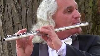 Флейтист в парке. Не проходите мимо, люди