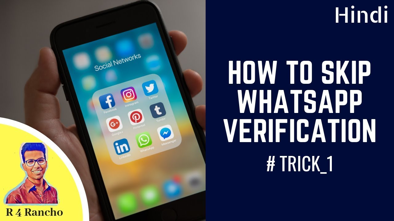How To Skip Whatsapp Verification Code | How To Verify Whatsapp Without Sim  Card | R 4 Rancho