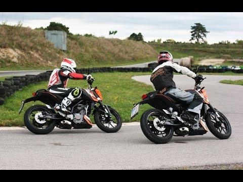 Drag between KTM Duke and Yamaha R15 And Pulsar 200NS