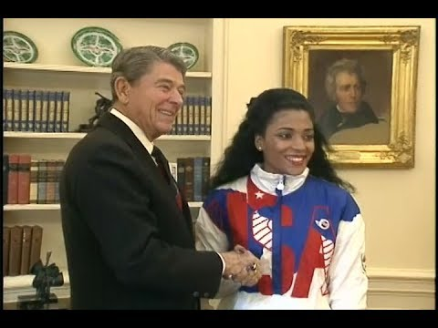 President Reagan's Photo Opportunities with US Olympic Athletes on October 24, 1988