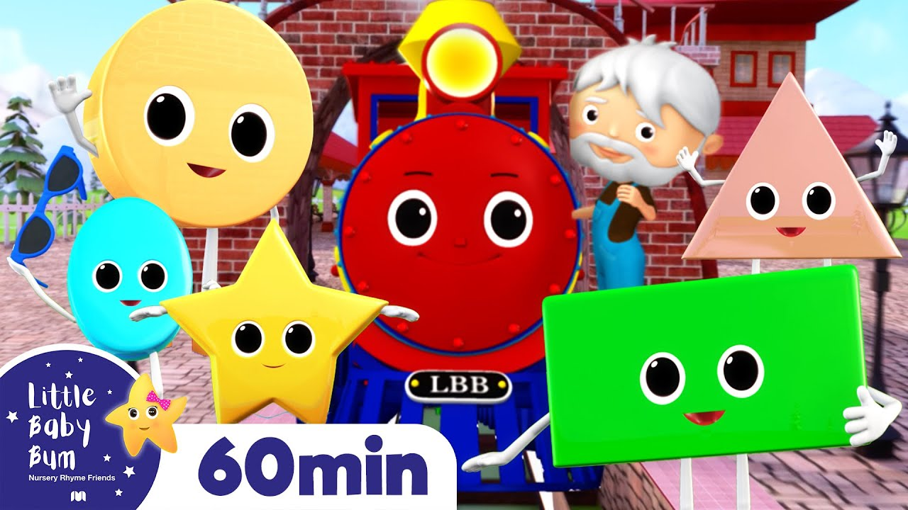 Shapes Train Song | Learn Shapes +More Nursery Rhymes & Kids Songs | ABCs and 123s | Little Baby Bum