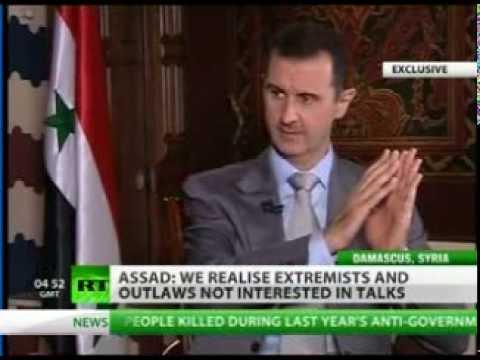 Syria: President Bashar Al Assad Interview to RT (Full transmission 09-11-2012)