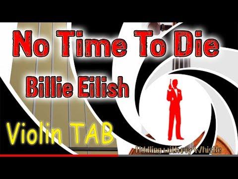 No Time To Die - Billie Eilish - James Bond 007 - Violin - Play Along Tab Tutorial