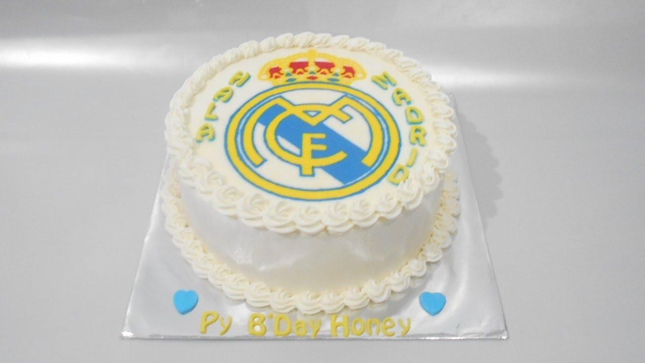 Real Madrid Cake Decorating Easy Youtube