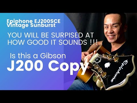 Epiphone EJ200SCE VS Guitar Review in Singapore