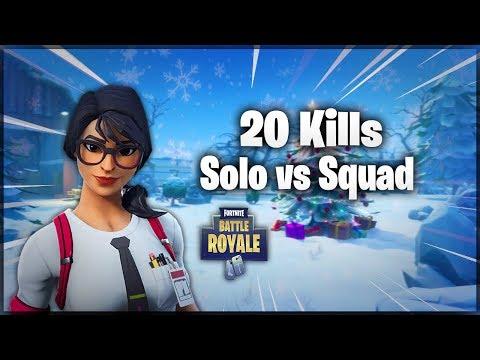 20 Kills Solo vs Squads New Personal Record ! Fortnite