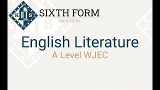 A Level English Literature Induction Lesson