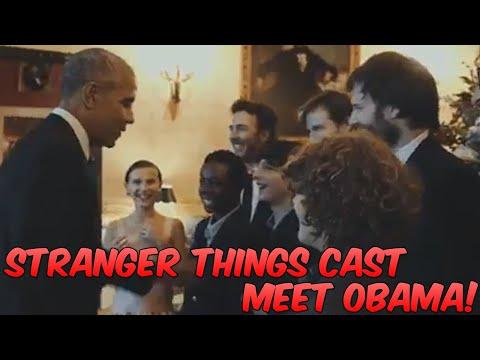 Stranger Things Cast Meet Obama