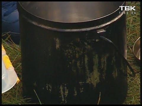 Подставка на костер для приготовления пищи - YouTube