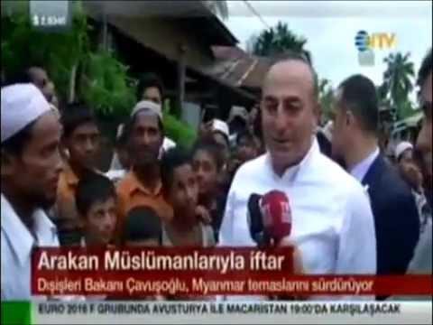 Dışişleri Bakanı Mevlüt Çavuşoğlu Arakan'da TİKA'nın Yaptığı Yetimhane ve Okulu Ziyaret Etti