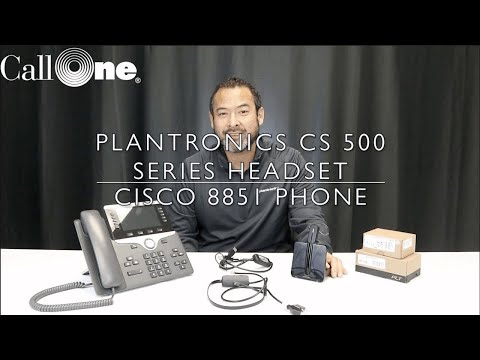 How to connect a Plantronics CS 500 with a Cisco 8851 - YouTube