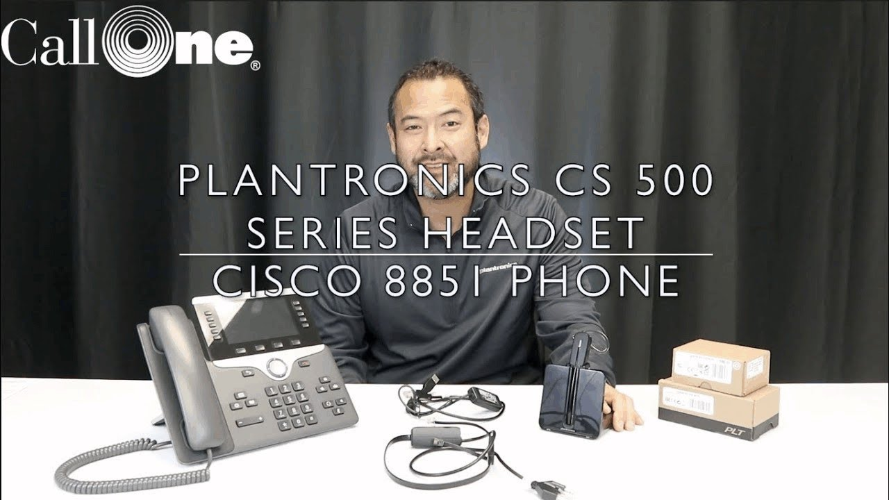 How to connect a Plantronics CS 500 with a Cisco 8851
