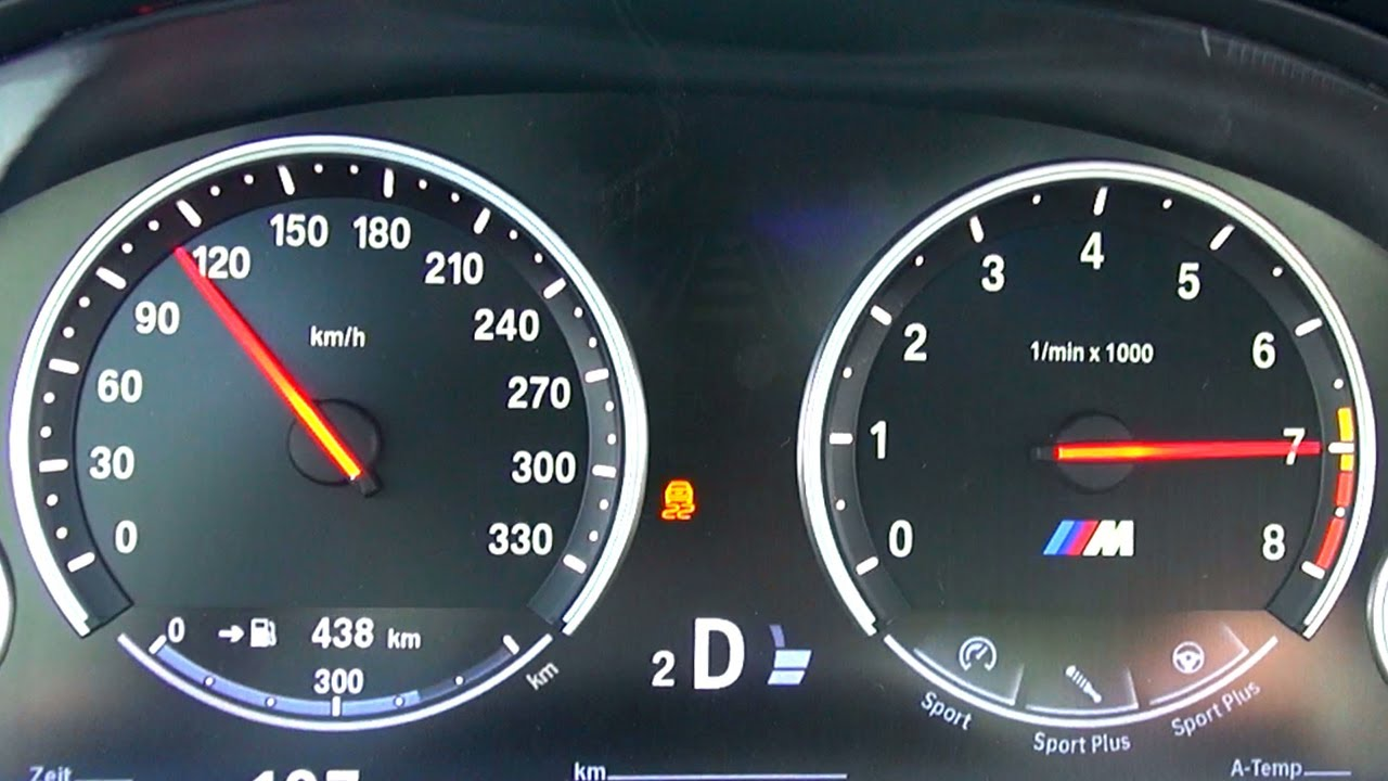 Bmw M5 F10 Acceleration 0 270 Km H Speedometer Onboard