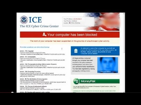 "How to Remove ""The ICE Cyber Crime Center, Your computer has been blocked"" virus"