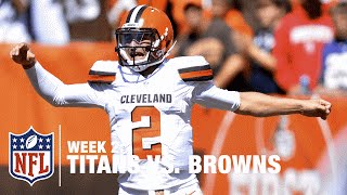 Johnny Manziel Airs It Out for 60-Yard TD | Titans vs. Browns | NFL