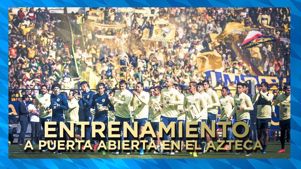 Entrenamiento Club América En El Estadio Azteca Previo A