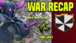 Clash of Clans | War Recap | Red Onslaught vs. The Lost | October 16