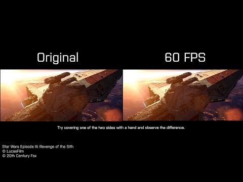 Battle of Coruscant 60 FPS vs 30FPS comparison - Star Wars Episode III