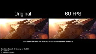 Battle of Coruscant 60 FPS vs 30FPS comparison - Star Wars Episode III
