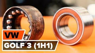 Schimbare Set rulment roata spate stânga dreapta VW GOLF III (1H1) - video instrucțiuni