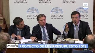 En vivo: Dujovne defiende el proyecto de Ley de Presupuesto en el Senado